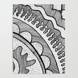 Lines & Dots Poster