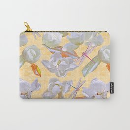 Magnolias and Dragonflies (Yellow Satin) Carry-All Pouch