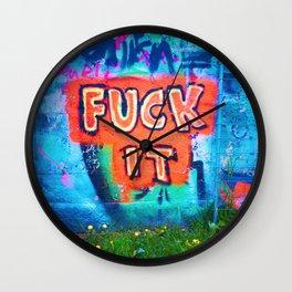Fxck It Wall Clock