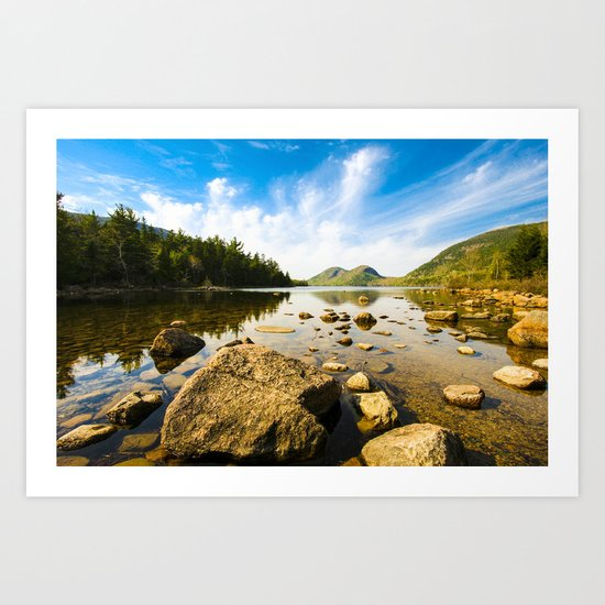 Glorious Day - Jordan Pond Maine Art Print