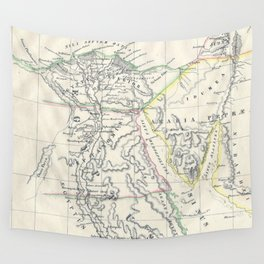 Vintage Map of Egypt (1837) Wall Tapestry