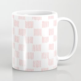 Hatch marks in Pink Coffee Mug
