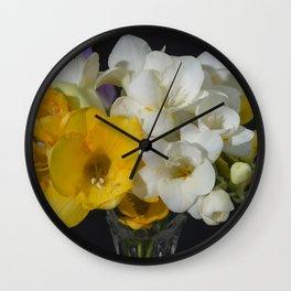 Cupertino's Fragrant Freesias Wall Clock