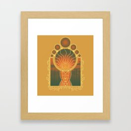 Princess of Flame Framed Art Print