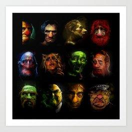 Muppets Noir (no names version) Art Print