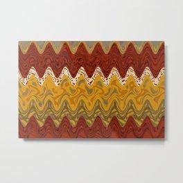Africa pattern marble Metal Print