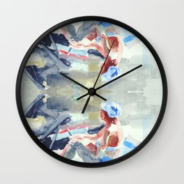 sea sketches 5 Wall Clock