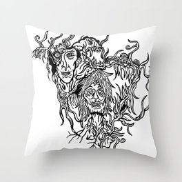 Melancholic Throw Pillow