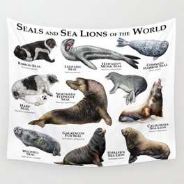 Seals and Seal Lions of the World Wall Tapestry
