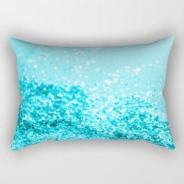 Aqua Blue Glitter #1 #shiny #decor #art #society6 Rectangular Pillow