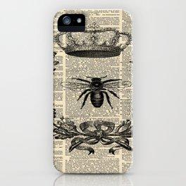Paris french  garden farmhouse beekeeper honey bee queen iPhone Case