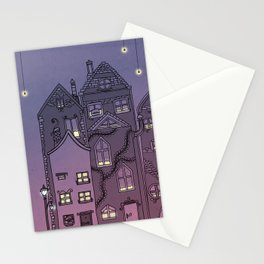 Midnight Teaparty Stationery Cards