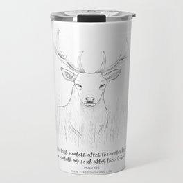 Psalm 42:1 Stag Travel Mug