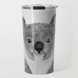 Baby Koala - Black & White Travel Mug