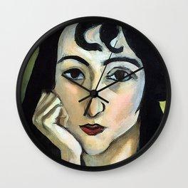Henri Matisse Lorette with Two Locks of Hair Wall Clock