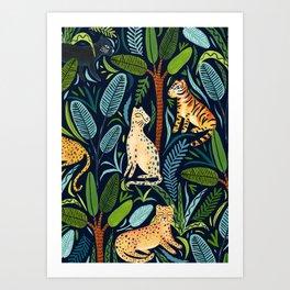Jungle Cats Art Print