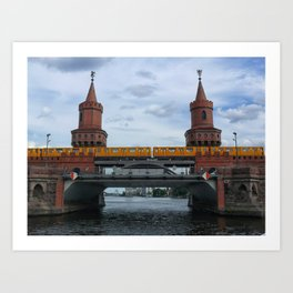 The Oberbaum Bridge, BERLIN Art Print