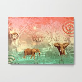 Elephants in the Ballroom Metal Print