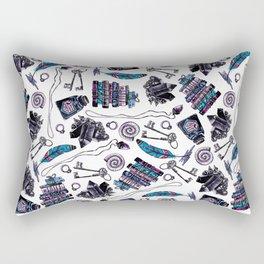 magical attributes, seamless print,  watercolor illustration Rectangular Pillow