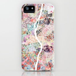 Budapest map iPhone Case