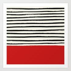 Red Chili x Stripes Art Print