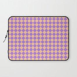 Deep Peach Orange and Lavender Violet Diamonds Laptop Sleeve