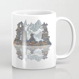 STONE KIRNS AND MOUNTAIN PEN DRAWING Coffee Mug