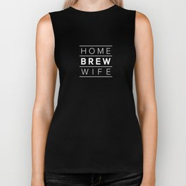 Homebrew Wife (White) Biker Tank