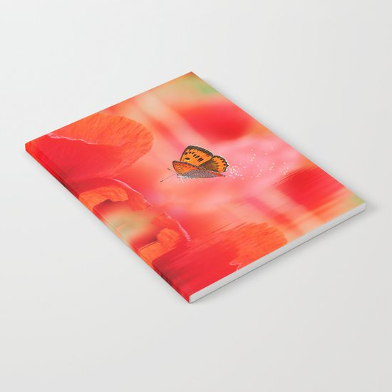 Summer Dream of Poppies Notebook