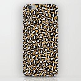 Gold Leopard Print | Cheetah texture pattern iPhone Skin