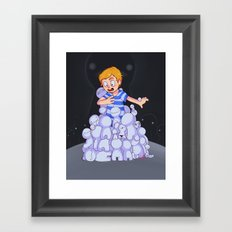 Pewdiecry :: It's Raping Time! Framed Art Print