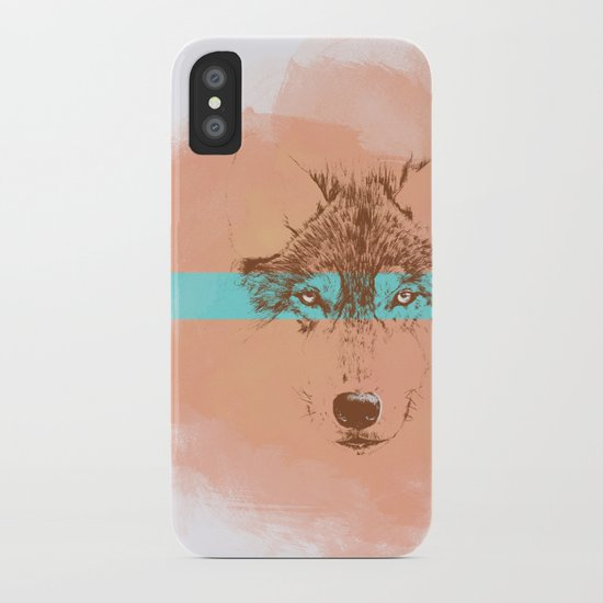 The Blue Eyed Wolf iPhone Case