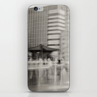 seoul iPhone & iPod Skins featuring Abstract Seoul by Zayda Barros