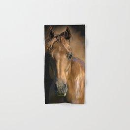 Brown horse animal portrait Hand & Bath Towel