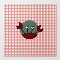 crab Canvas Prints featuring Crab by Mr and Mrs Quirynen