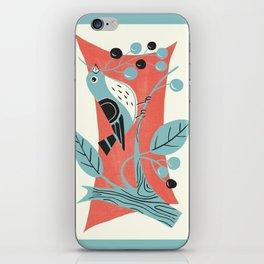 Blue Berry Bird iPhone Skin
