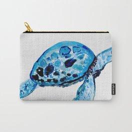 Sea Turtle, Watercolor Print, Turtle Art, Turtle Illustration, Sea,Turtle, Nursery Carry-All Pouch
