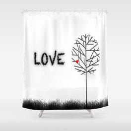 αγάπη Shower Curtain