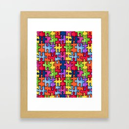Jiggy puzzle Framed Art Print
