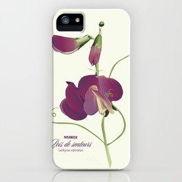 Pea- Pisello Odoroso iPhone Case