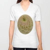 dahlia V-neck T-shirts featuring Dahlia by Wealie