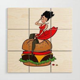 Hamburger Hottie Wood Wall Art