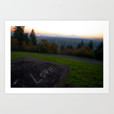 Love at Sunrise Over Mt. Hood Art Print
