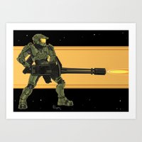 master chief Art Prints featuring Master Chief by Arnix