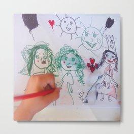 Me and my friends | Kids Drawing Metal Print