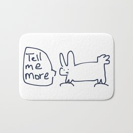 Tell Me More RABBITS TALKING Bath Mat