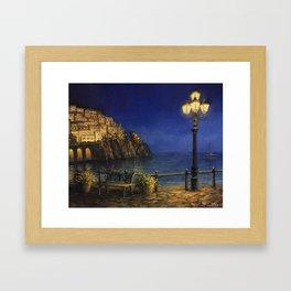 Summer Evening in Amalfi Framed Art Print