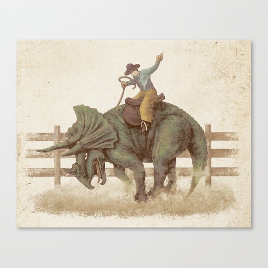 Dino Rodeo  Canvas Print