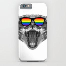 LGBTQ Purride gay lesbian cat pride csd rainbow T-Shirt iPhone Case