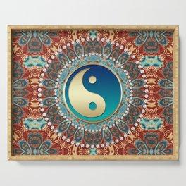 Bohemian Batik Yin Yang Serving Tray